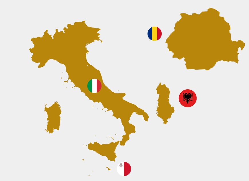 Italy-Albania-Malta-Romania