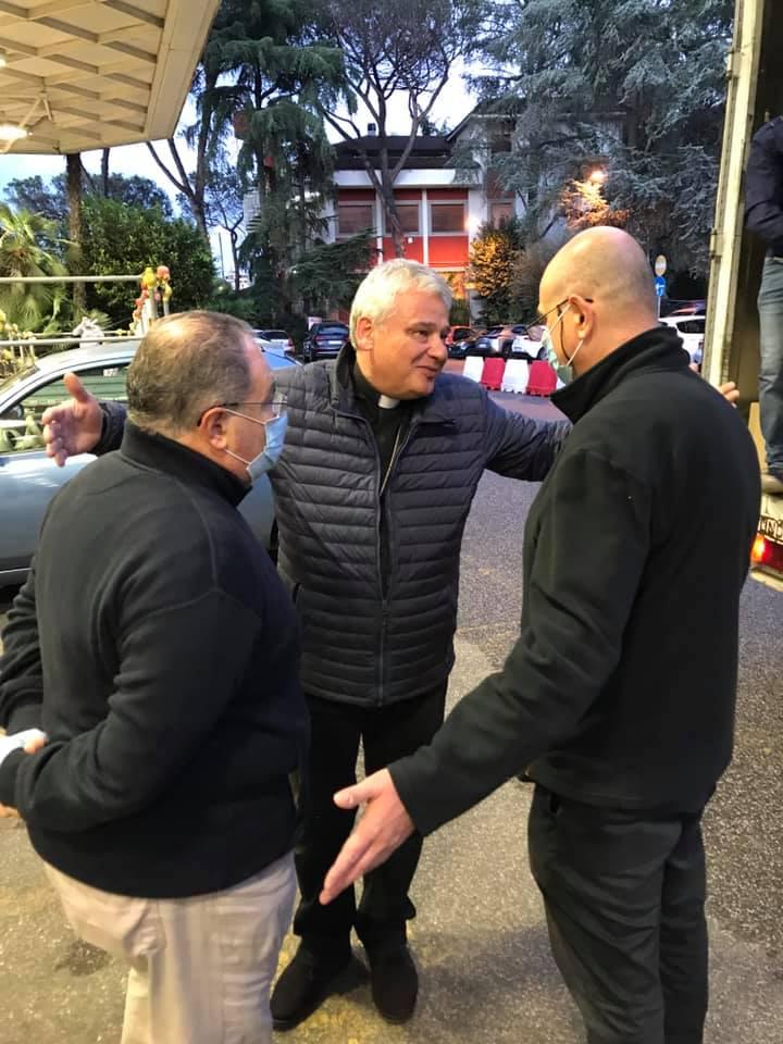 Padre Claudio Zonta SJ e il rettore dell'Istituto Massimo gei gesuiti padre Giovanni La Manna