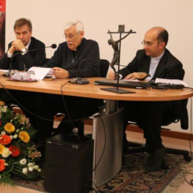 Padre Arturo Sosa e padre Luciano Larivera ad un evento culturale presso il Centro Veritas di Trieste