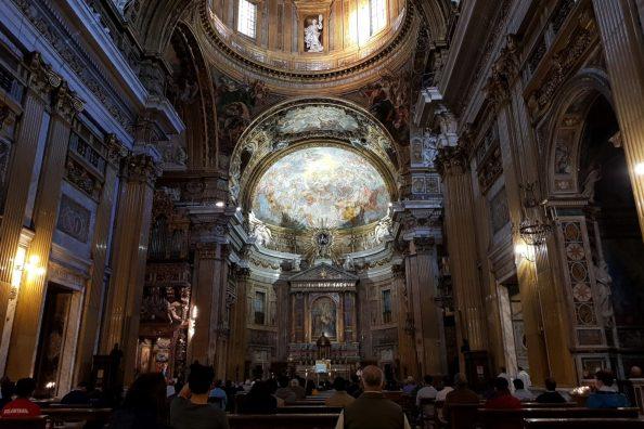 Interno della Chiesa del Gesù a Roma