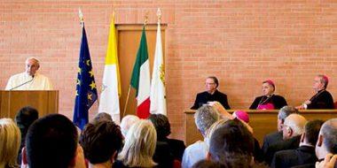 Papa Francesco alla PFTS