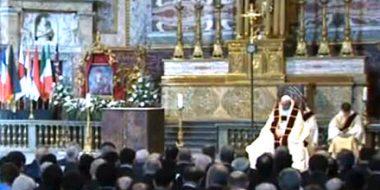 Papa Francesco alla Chiesa del Gesù