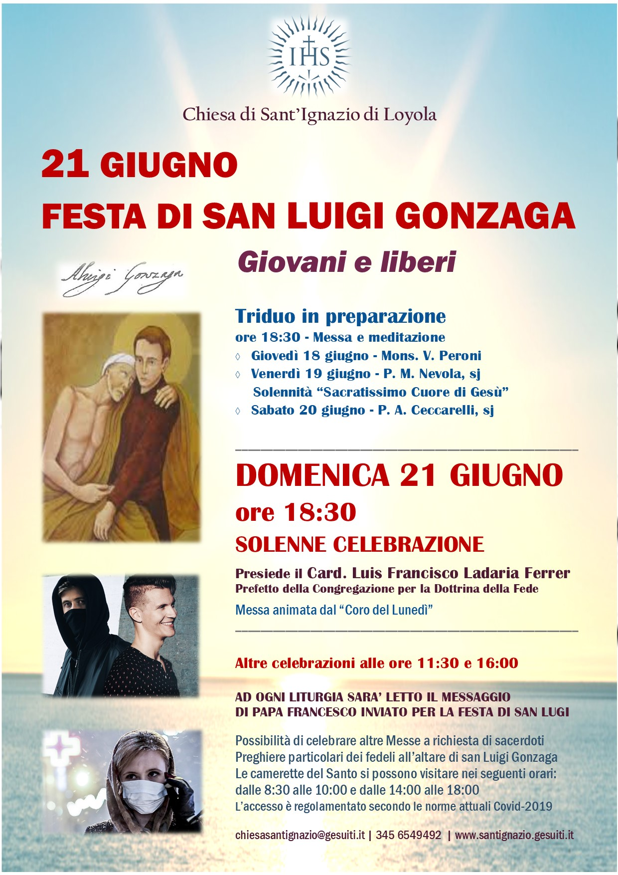 Locandina Messa solenne San Luigi